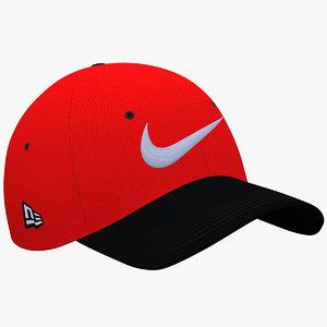 baseball cap embroidery nike 3D model