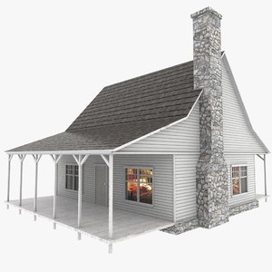 3d american house model