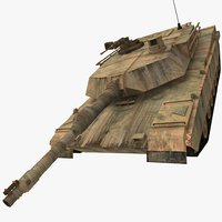 m1a2 abrams post apocaliptic 3d model