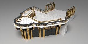 environment exterior interior 3D model