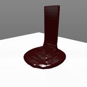 animation viscous hot liquid pouring 3D