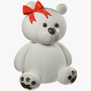 3D stuffed polar bear