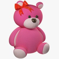 pink teddy bear model