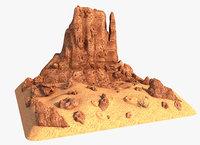 3D rock canyon