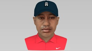3D model tiger woods bust ready