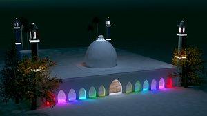 ramadan kareem mosque interior exterior 3D