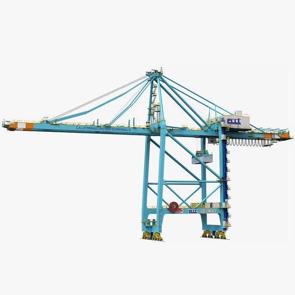 3D sts harbor crane zpmc model
