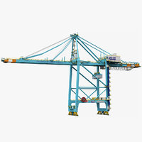 3D sts harbor crane zpmc model