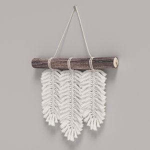small macrame wall hanging 3D model