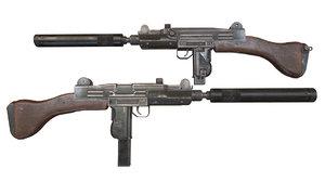 3D uzi submachine gun