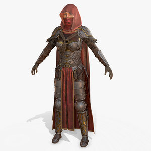 3D assassin female body
