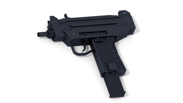 3D model micro uzi submachine gun