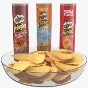 3D pringles chips plate model