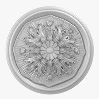 rose ceiling medallion m107 3D model