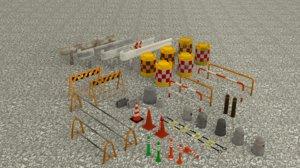 3D street road model