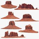 sandstone butte pack 1 3D model