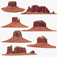 sandstone butte pack 1 3D model