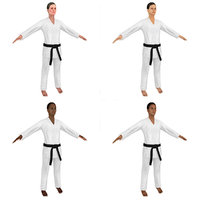 rigged karate 3D model