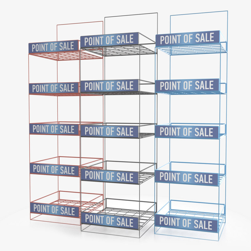 3D display rack model