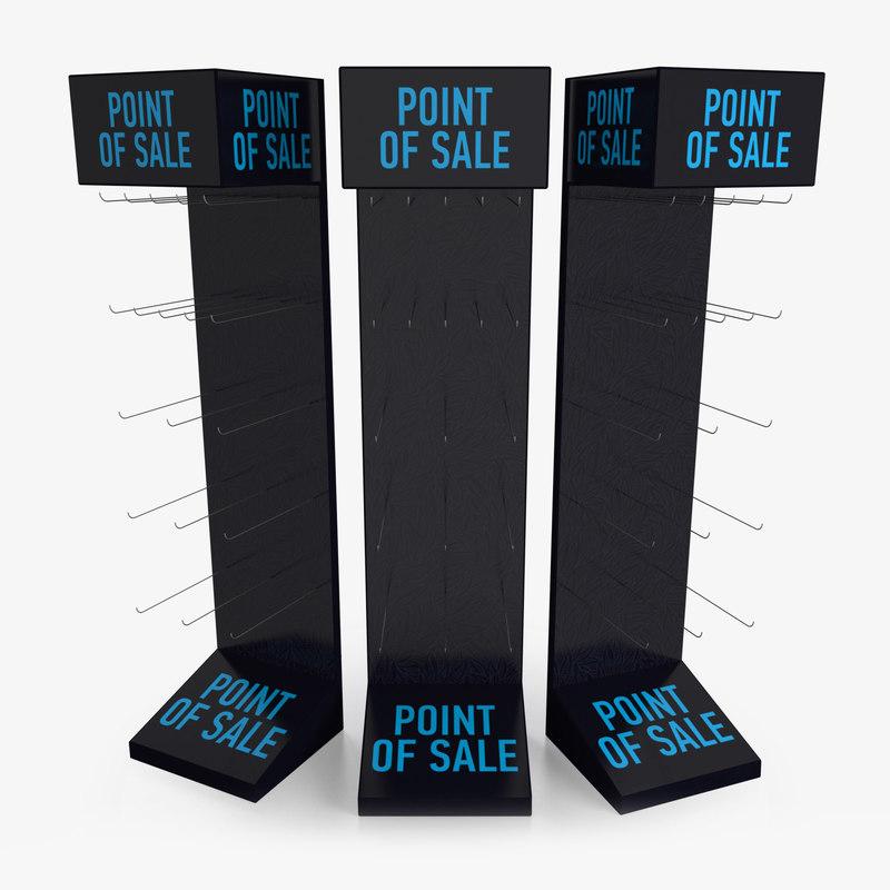 3D model display rack