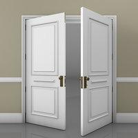 classic double door 3D model