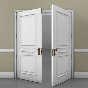 classic double door 3D model