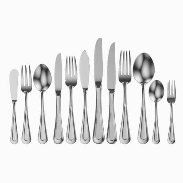 3D table cutlery 12 items