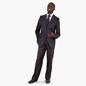 3d businessman hello people human
