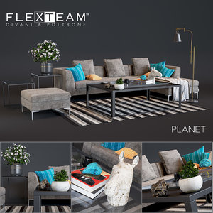 3D flexteam planet sofa
