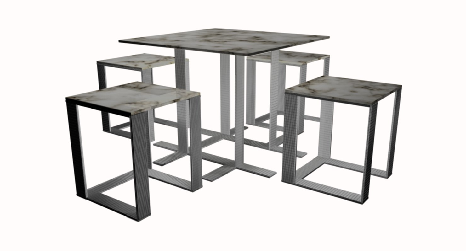 set table 3D model