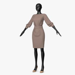 3D office dress