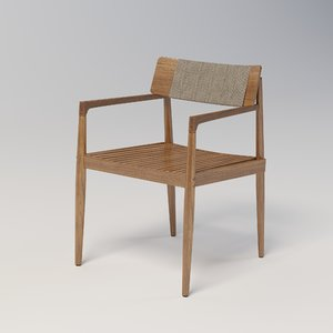 archi dining chair 3D model