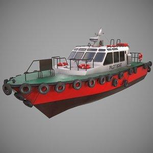 3D model pilot boat