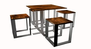 3D table stools