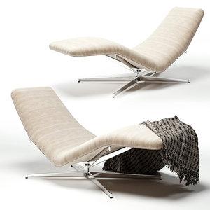3D pierre guariche lounge chair model