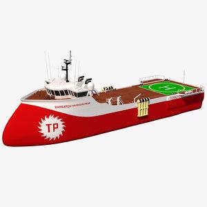 3D barbaros pasa vessel