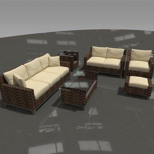 3D patio outdoor furniture