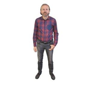 3D model scanned standing