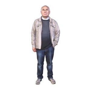 scanned standing model