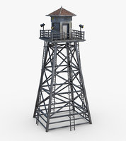 3D jail guard tower