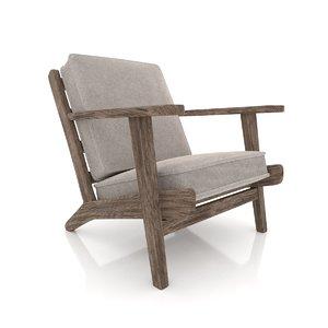 3D chair brooks lounge