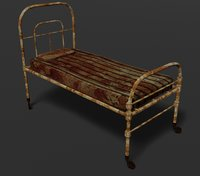 Terror old hospital bed