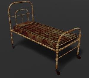 3D bed old terror model
