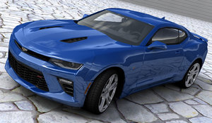 3D model chevrolet camaro ss 2017