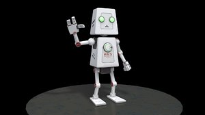 robot rigged model