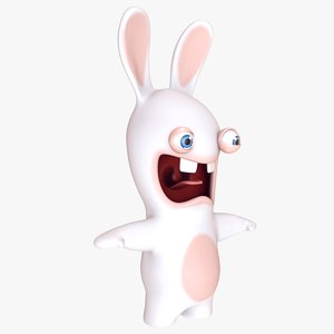 3D raving rabbids crazy lapins