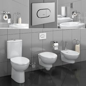 3D toilet bowl bidet hatria