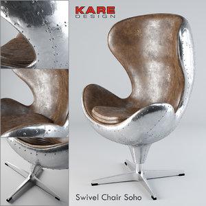 kare swivel chair soho model