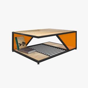 3D cozy table wood model