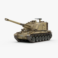 3d french gct auf1 155mm model